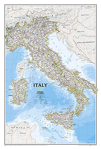 9780792249757: Italy Classic [Tubed] (National Geographic Reference Map)