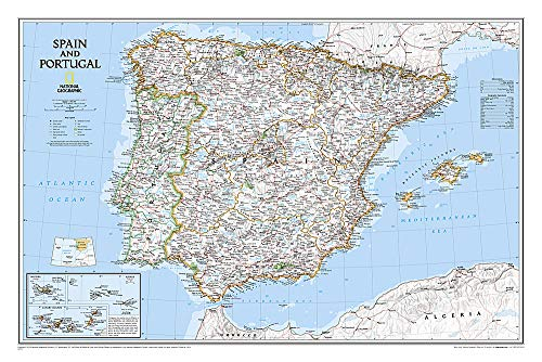 9780792249870: Spain and Portugal Classic [Tubed] (National Geographic Reference Map)