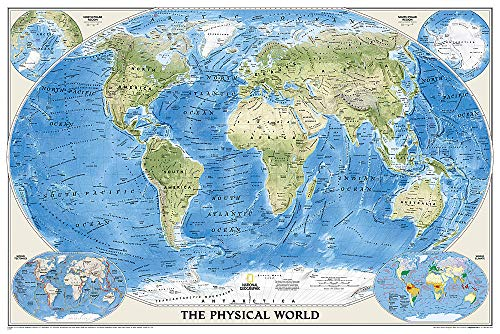 9780792250012: World Physical [Enlarged and Laminated] (National Geographic Reference Map)