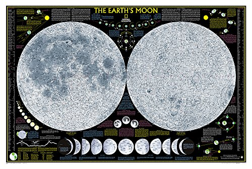 9780792250050: The Moon, laminated (National Geographic Reference Map)