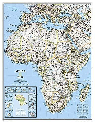 Africa Classic [Enlarged and Laminated] (National Geographic Reference Map): National Geographic ...
