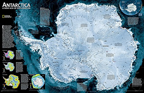 9780792250128: Antarctica Satellite [Laminated] (National Geographic Reference Map)