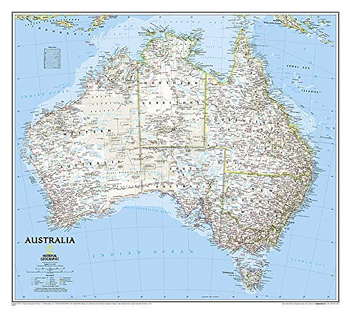 9780792250159: Australia Classic, Tubed: Wall Maps Continents: PP.NGC620002 (National Geographic Reference Map)