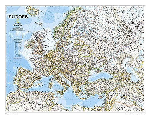 9780792250166: Europe Classic – Laminated (National Geographic Reference Map)