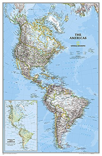 9780792250210: The Americas - North & South America Political Map Laminated