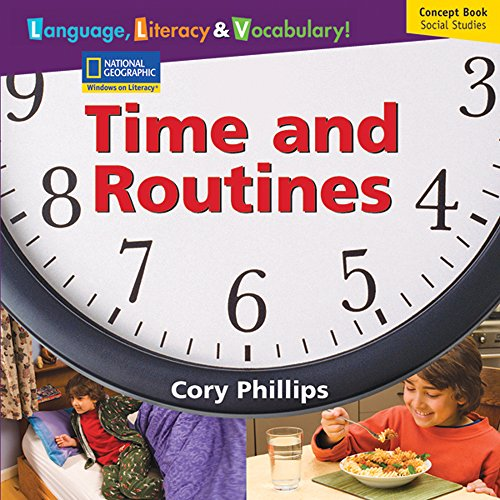 Language, Literacy & Vocabulary! Time and Routines, Concept Book Social Studies