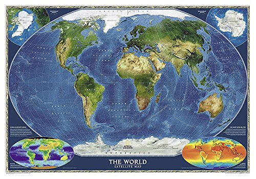 9780792280903: World Satellite [Tubed] (National Geographic Reference Map)