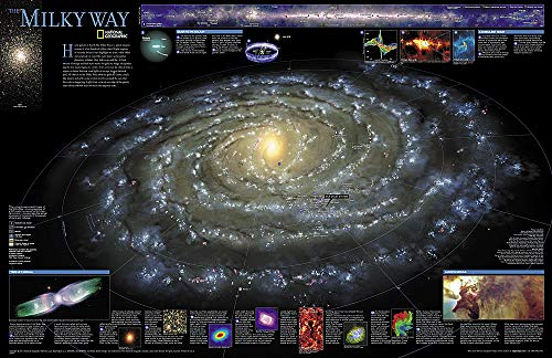 National Geographic: The Milky Way Wall Map