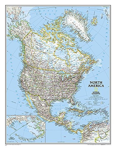 9780792281016: North America Classic, Enlarged &, Tubed: Wall Maps Continents: NG.PC620014 (National Geographic Reference Map)