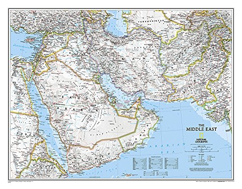 Afghanistan, Pakistan, and the Middle East Wall Map: National Geographic Maps - Reference