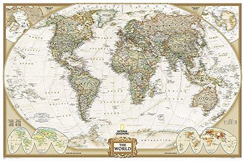 9780792283270: World Executive, Enlarged &, Laminated: PP.NGW622086: Laminated Executive Line (World Maps)