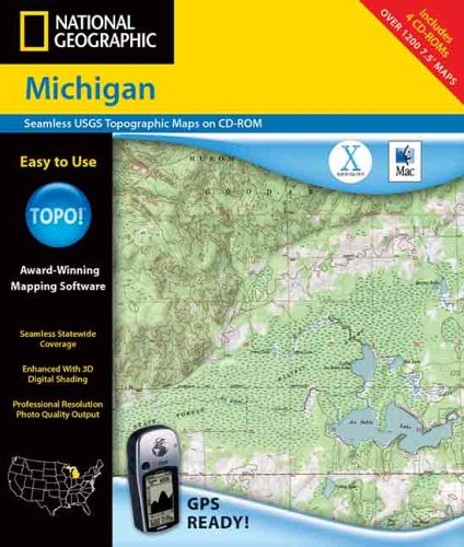 9780792283751: National Geographic Michigan: Seamless Usgs Topographic Maps