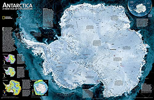 9780792285885: Antarctica Satellite Wall Maps Continents: Satellite Image (Reference - Continents)