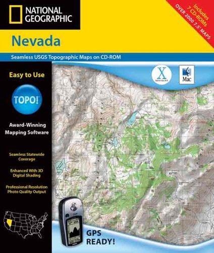 9780792288220: National Geographic Topographic Nevada