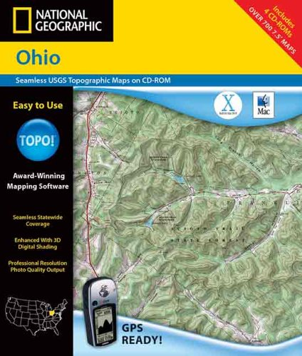 9780792288237: National Geographic Ohio: Seamless Usgs Topographic Maps on Cd-Rom