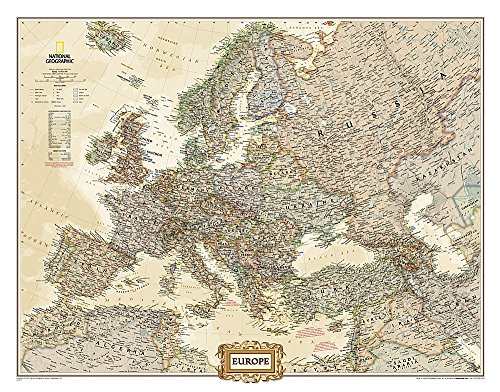 9780792289838: Europe Executive [Tubed] (National Geographic Reference Map)