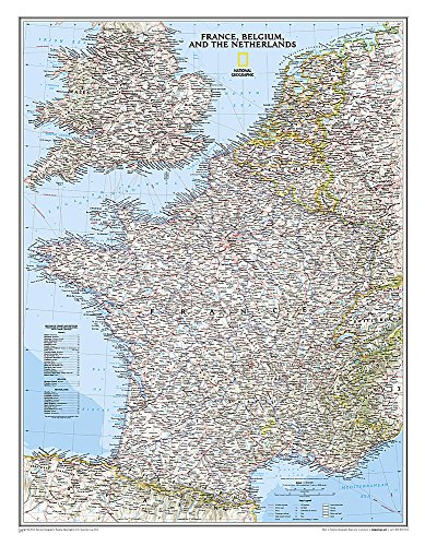 9780792292616: France, Belgium, and The Netherlands Classic [Laminated] (National Geographic Reference Map)