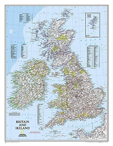 9780792292869: Britain and Ireland Classic Flat (National Geographic Reference Map)