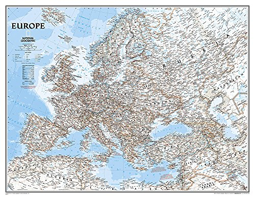 9780792292951: National Geographic: Europe Classic Enlarged Wall Map - Laminated (46 x 35.75 inches) (National Geographic Reference Map)