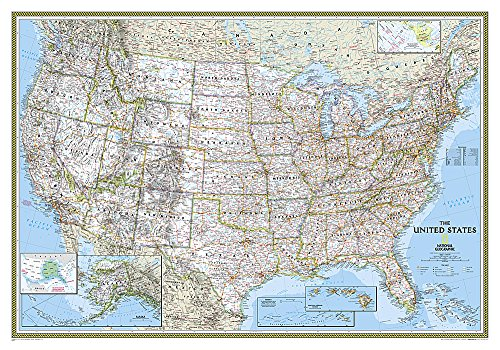 9780792293187: United States Classic [Tubed] (National Geographic Reference Map)