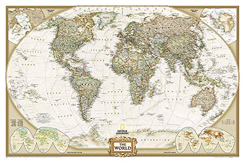 9780792293392: National Geographic: World Executive Wall Map (46 x 30.5 inches) (National Geographic Reference Map)