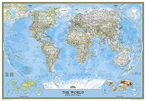 9780792294542: World Classic, Enlarged &, Laminated: Wall Maps World: Political (National Geographic Reference Map)
