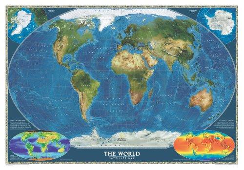 9780792294559: World Satellite Wall Maps World (Reference - World)