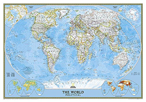 9780792294566: World Classic Wall Maps World: Political (National Geographic Reference Map)