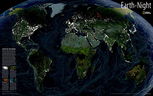 9780792297345: Earth at Night (National Geographic Reference Map)