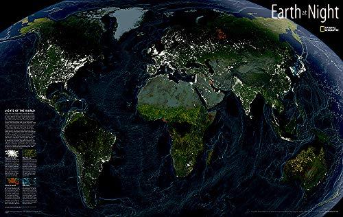 9780792297345: Earth at Night Wall Maps World (Reference - World)