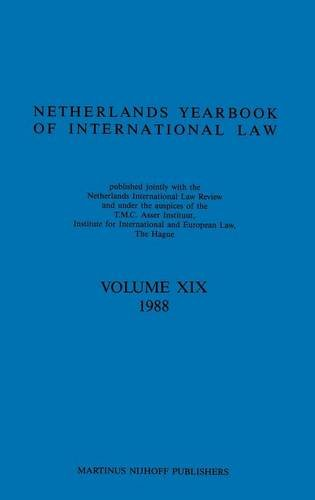Netherlands Year Book of International Law: v. 19 (Hardback): Instituut