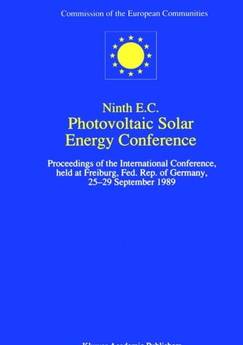 Ninth E.C. Photovoltaic Solar Energy Conference (E C Photovoltaic Solar Energy Conference/&#...