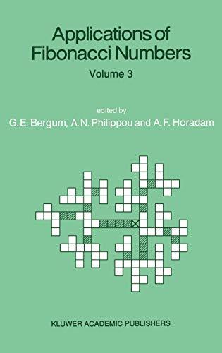 Applications of Fibonacci Numbers: Volume 3: Bergum, G.E. (Editor)
