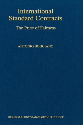 9780792307099: International Standard Contracts: The Price of Fairness