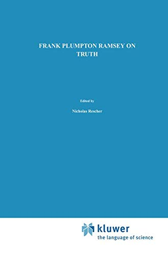 9780792308577: On Truth: Original Manuscript Materials (1927–1929) from the Ramsey Collection at the University of Pittsburgh (Episteme)