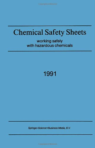 9780792312581: Chemical Safety Sheets: Working Safely with Hazardous Chemicals