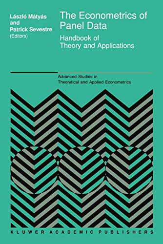 9780792320432: The Econometrics of Panel Data: Handbook of Theory and Applications (Advanced Studies in Theoretical and Applied Econometrics)