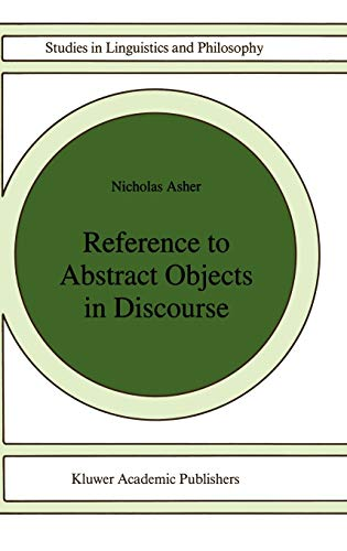 9780792322429: Reference to Abstract Objects in Discourse (Studies in Linguistics and Philosophy)