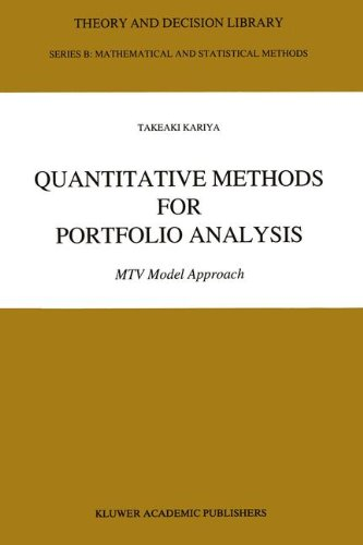9780792322542: Quantitative Methods for Portfolio Analysis: MTV Model Approach (Theory and Decision Library B)