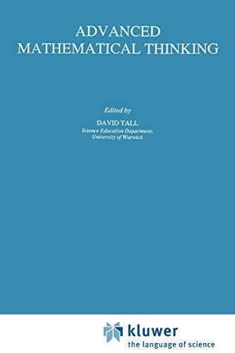 9780792328124: Advanced Mathematical Thinking (Mathematics Education Library)