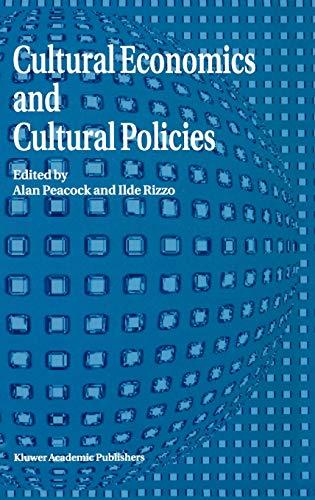 9780792328681: Cultural Economics And Cultural Policies