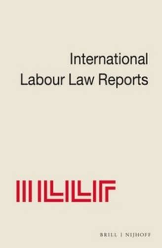9780792329596: International Labour Law Reports