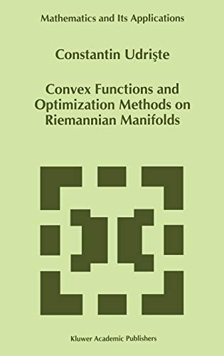 9780792330028: Convex Functions and Optimization Methods on Riemannian Manifolds (Mathematics and Its Applications)