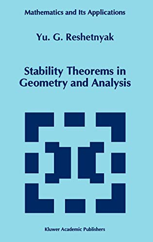 9780792331186: Stability Theorems in Geometry and Analysis
