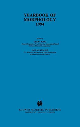 Yearbook of Morphology 1994 (Hardback)