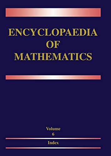 9780792334989: Encyclopaedia of Mathematics: Volume 6: Subject Index - Author Index