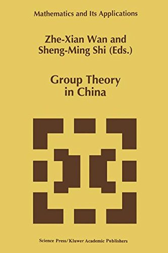9780792339892: Group Theory in China (Mathematics and Its Applications)