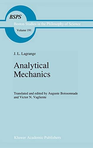 Analytical Mechanics (Hardback): Joseph Louis Lagrange