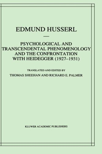 9780792344810: Psychological and Transcendental Phenomenology and the Confrontation with Heidegger (1927-1931): The Encyclopaedia Britannica Article, The Amsterdam ... Edmund Husserl - Collected Works