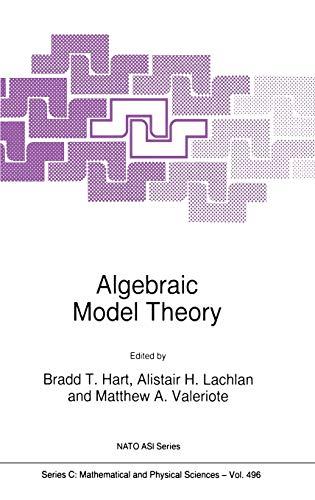 9780792346661: Algebraic Model Theory (Nato Science Series C:)